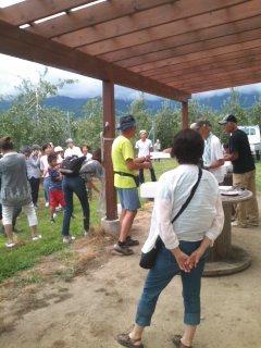 りんごの木オーナー様開園式